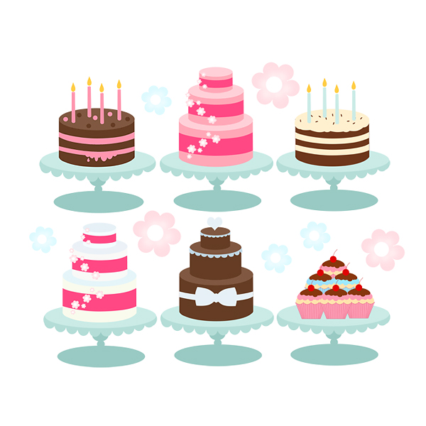 Nail Cake Blue Black Splodges Cow Print: Cakes, Bakery, Cupcakes, Birthday Candles